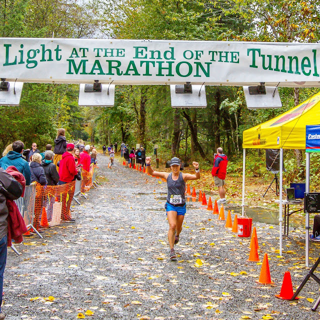 Finish line pic - Tunnel Light Marathon