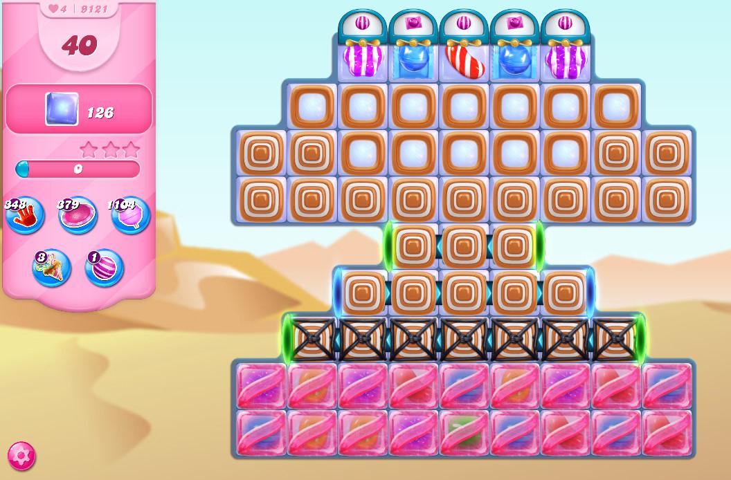 Candy Crush Saga level 9121