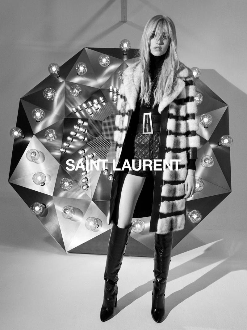Grace Hartzel Delivers Cool in Saint Laurent Fall 2020 Campaign