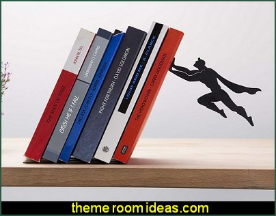 Book & Hero Metal Bookend