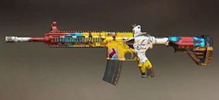 M416 pubg mobile skin: Graffiti