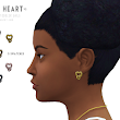 Onyx Sims: Close 2 My Heart Earrings V.2