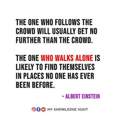 Inspirational Quotes On Following The Crowd