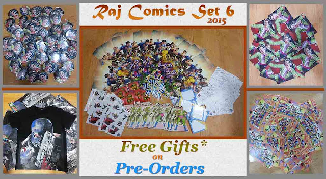 Free Gifts available with Raj Comics Set 6