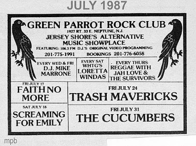 The Green Parrot rock club 1987