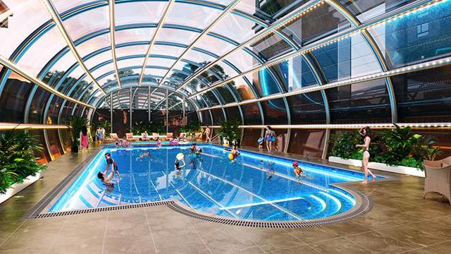 Bể bơi tại dự án Việt Đức Complex