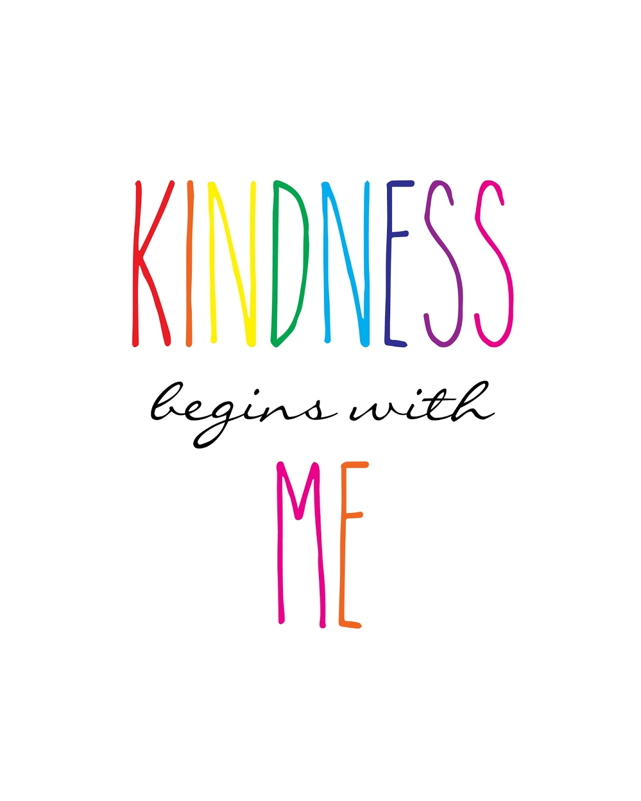 Polkadots On Parade Kindness Begins With Me Printable