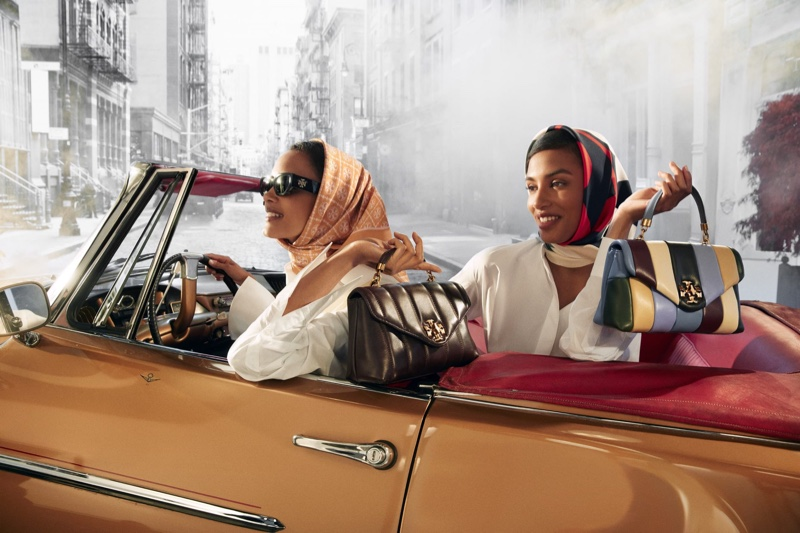 An image from Tory Burch's fall 2021 advertising campaign.