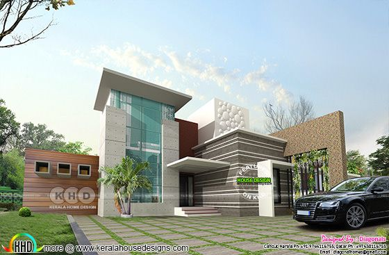 California home design by Diagonals, Calicut, Kerala.
