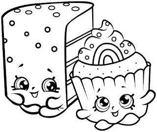 Coloring Pages Shopkins Cake And Donuts