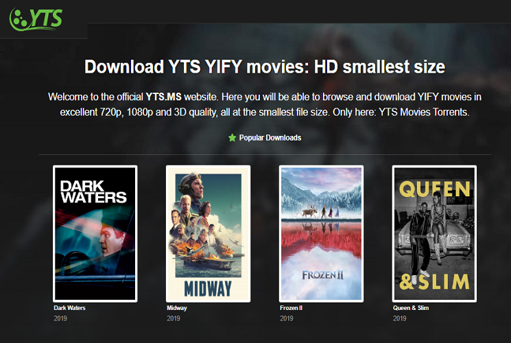 YTS Torrent to Watch Movies for Free