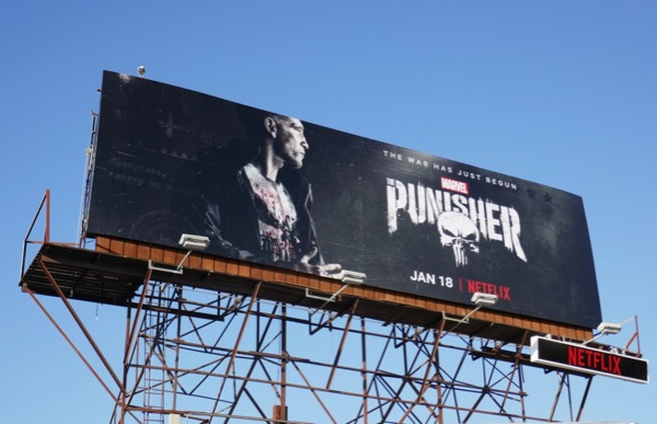 Marvel Punisher season 2 billboard