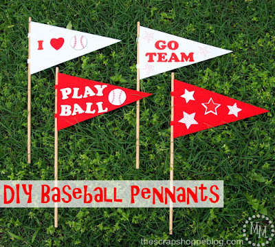 DIY Baseball Pennants by The Scrap Shoppe