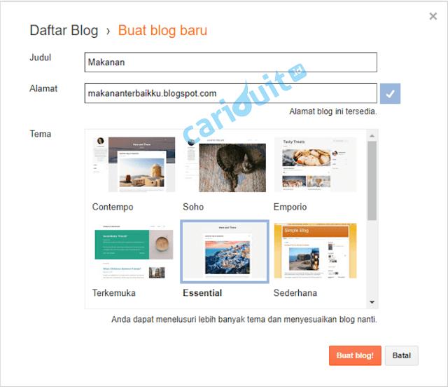 Panduan Membuat Blog dengan Blogspot, Lengkap dengan Gampar tutorial