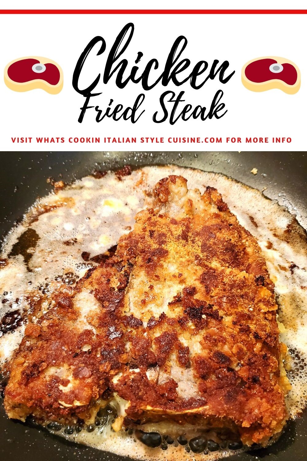 this is a pin for later recipe for chicken fried steak