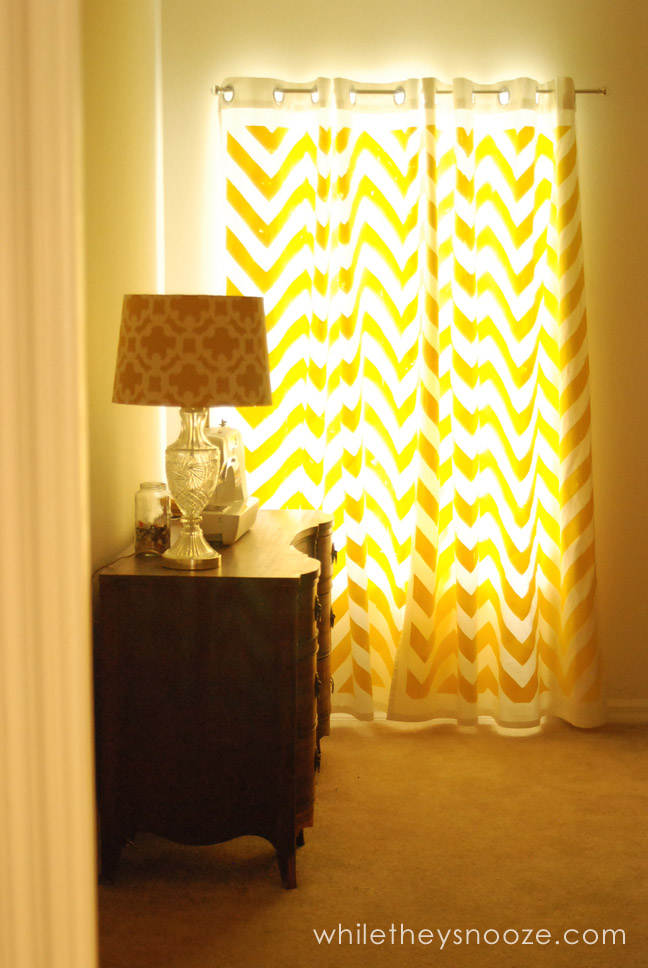 While They Snooze Diy Chevron Curtains Tutorial
