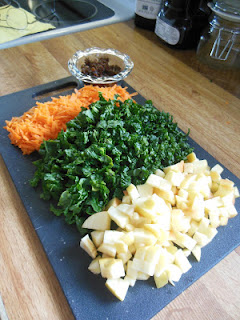 Carrot Kale and Apple Slaw, look for the recipe soon, from Scratch Made Food! & DIY Homemade Household.