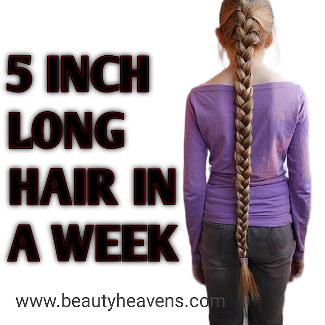 How to do 5 inch long hair in a week.