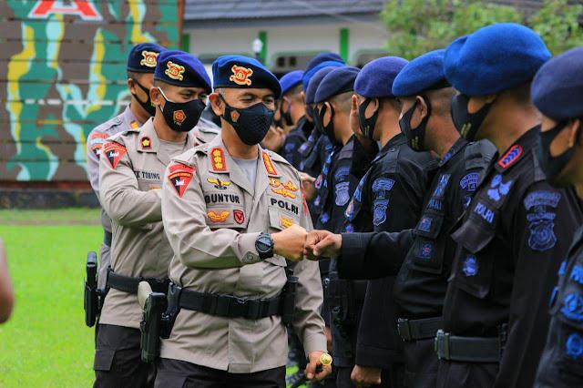 Muhammad Guntur Sambut 100 Personil Usai Amankan Pilkada Sulsel dan Papua