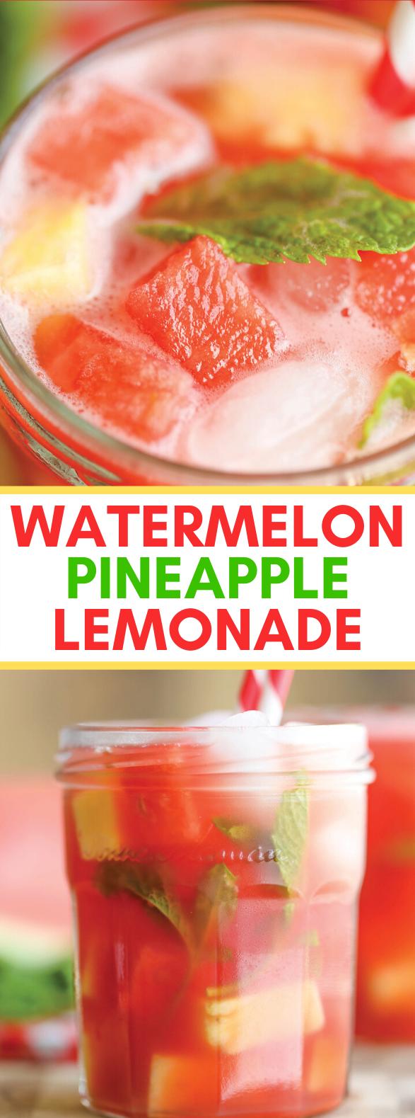 WATERMELON PINEAPPLE LEMONADE #drinks #freshdrink