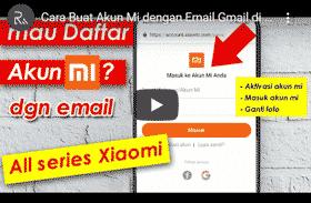 cara buat akun mi dengan email
