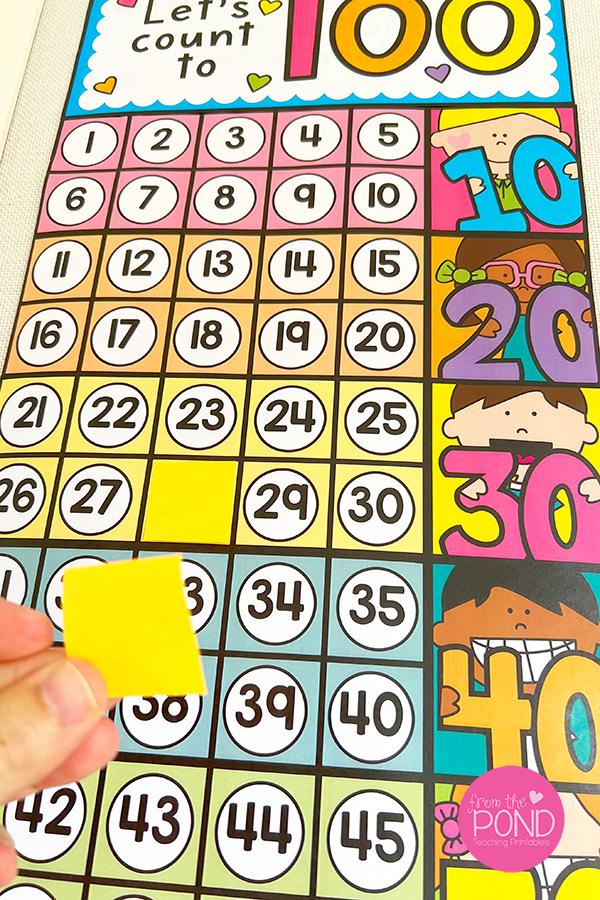 number games in kindergarten
