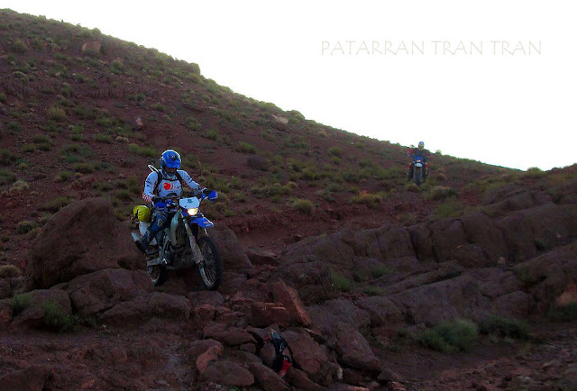DRZ 400 trail. Atlas. Morocoo