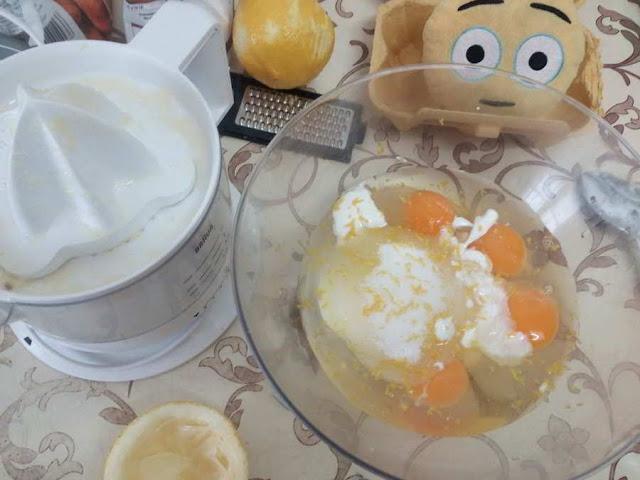 Receta pastel de limón