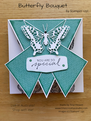 Butterfly Bouquet Triple Arrow card