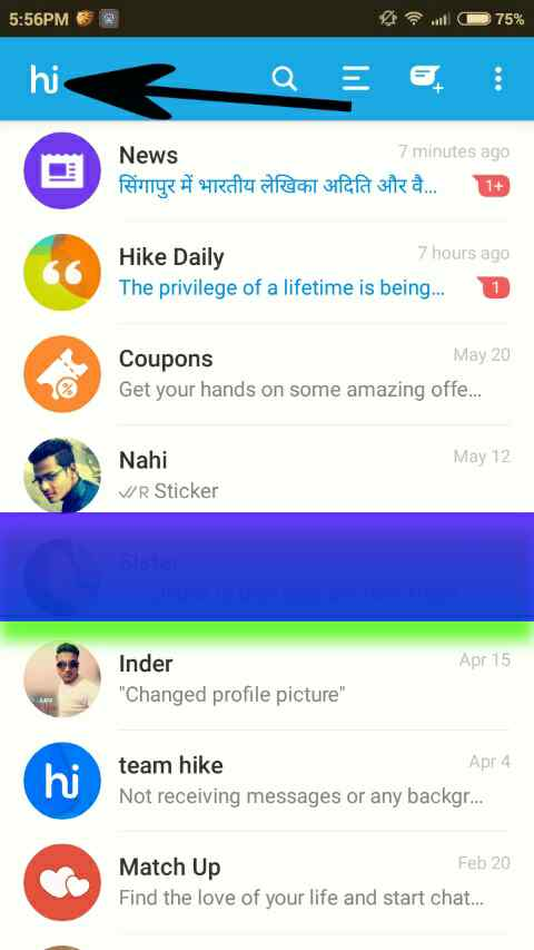 Hike Par chat hide kaise kare - hike messenger hide chat | K&M