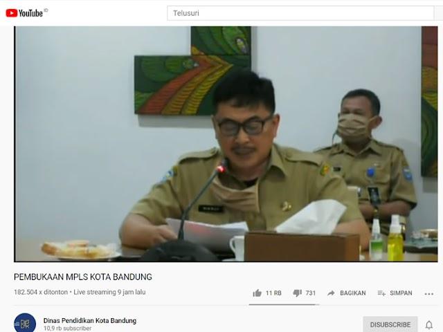 Siswa Sekolah di Kota Bandung Ikuti MPLS Secara Online