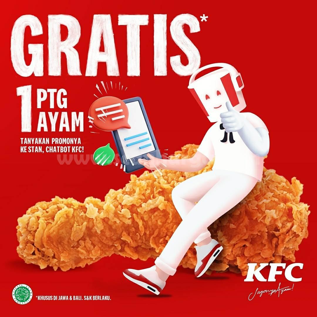 Tanya Promo Ke Stan Chatbox KFC GRATIS 1 Potong Ayam