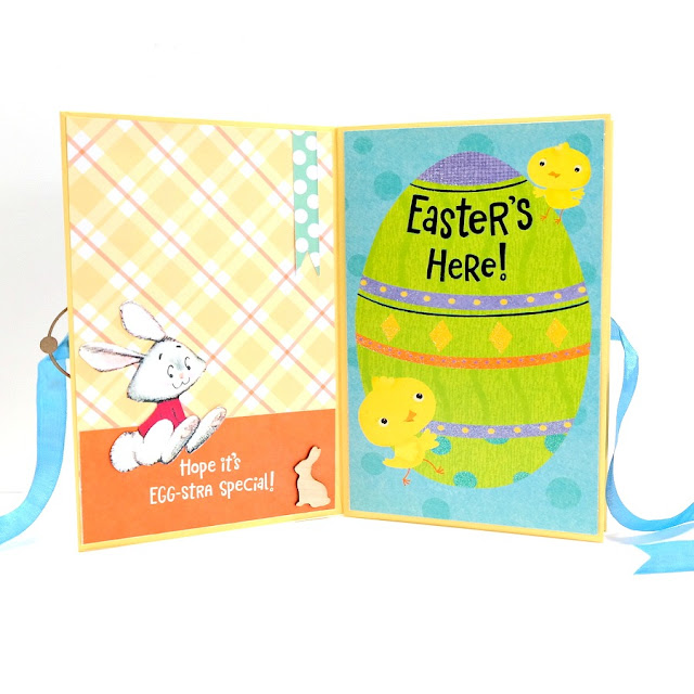 Happy Easter Greeting Card Mini Album Pages 1 and 2