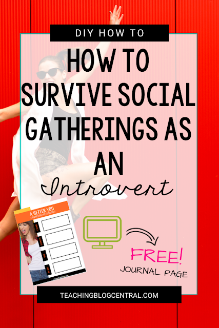 Christmas gatherings are fun! But let's face it, for those of us who are introverts. This guide on how to survive a party or social gatherings as an introvert may help you if you're anything like me or my sister - introverts. Pick up your free journal page download inside!