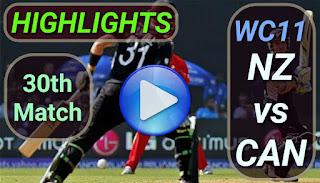 NZ vs CAN 30th Match