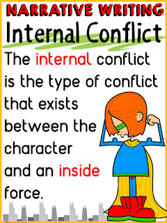 rising action and external internal conflict