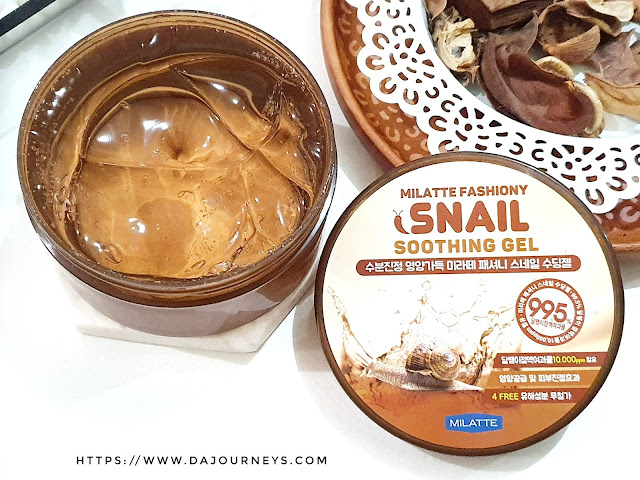 Review MILATTE Fashiony Snail Soothing Gel