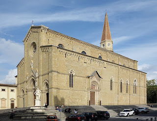 Arezzo's cathedral stands in an elevated location a short distance from the city centre