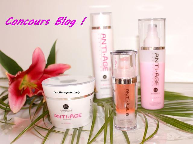 Concours pour remporter la gamme capillaire anti-âge de Myriam k - Blog beauté Les Mousquetettes©