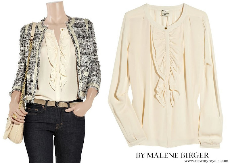 Crown Princess Victoria wore By Malene Birger Drambor Ruffled Blouse