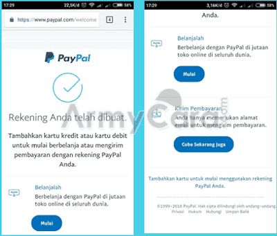 cara daftar paypal tanpa kartu kredit