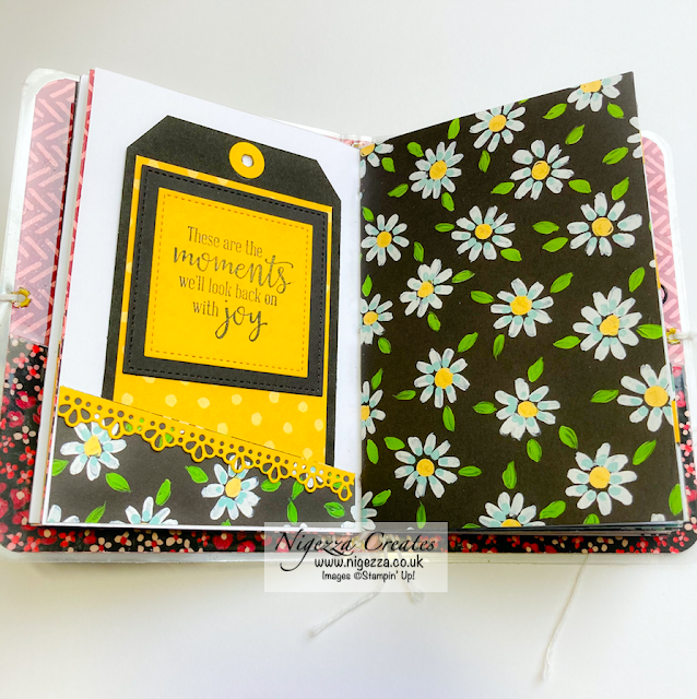 Mini Traveler's Notebook Using Stampin' Up! Flower & Field DSP