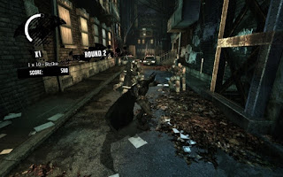 Batman Arkham Asylum - camera centered in battle
