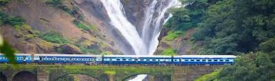 Train to Dudhsagar falls