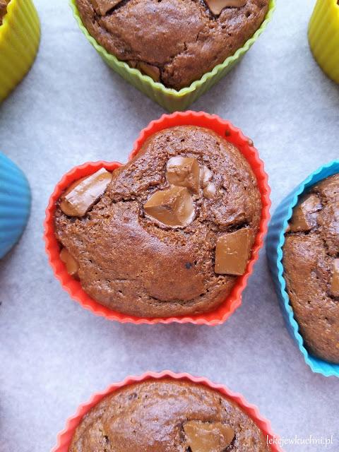 Czekoladowe muffinki z mąką z ciecierzycy przepis