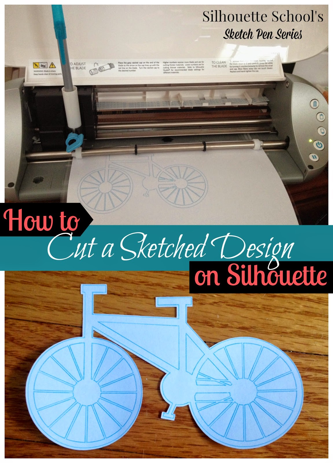 Sketch pen, Silhouette, Silhouette tutorial, sketched design, cut, Silhouette Studio