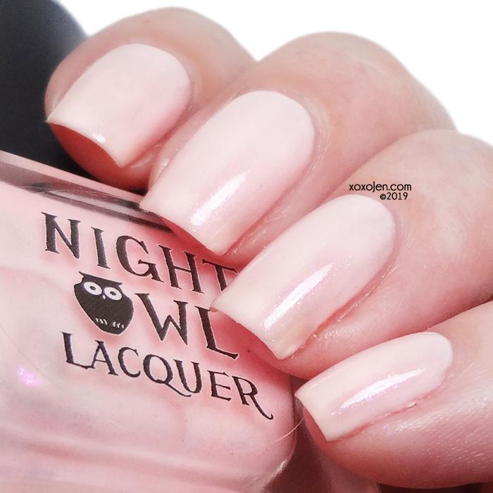 xoxoJen's swatch of Night Owl Lacquer It's a Feeling, a Heartbeat