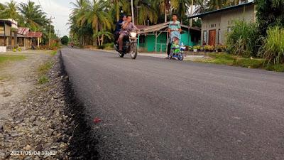 Jalan Diaspal, Warga Desa Bogak Besar Ucapkan Terimakasih Kepada Pemkab dan DPRD Sergai