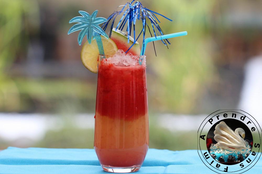 Cocktail rhum pastèque au citron vert
