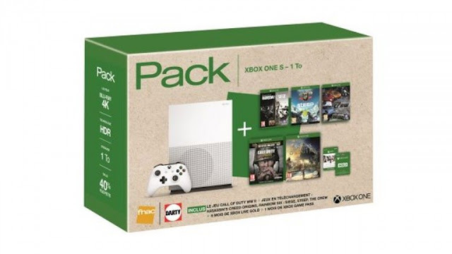 عرض رهيب لحزمة جهاز Xbox One S مع 5 ألعاب و 6 أشهر لخدمة Xbox Live بسعر 299 دولار